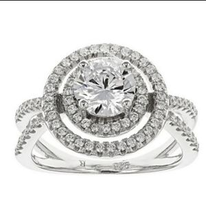 Bella Luce Sterling Silver Cubic Zirconia Ring